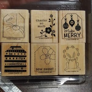Tags so much rubber stamp set
